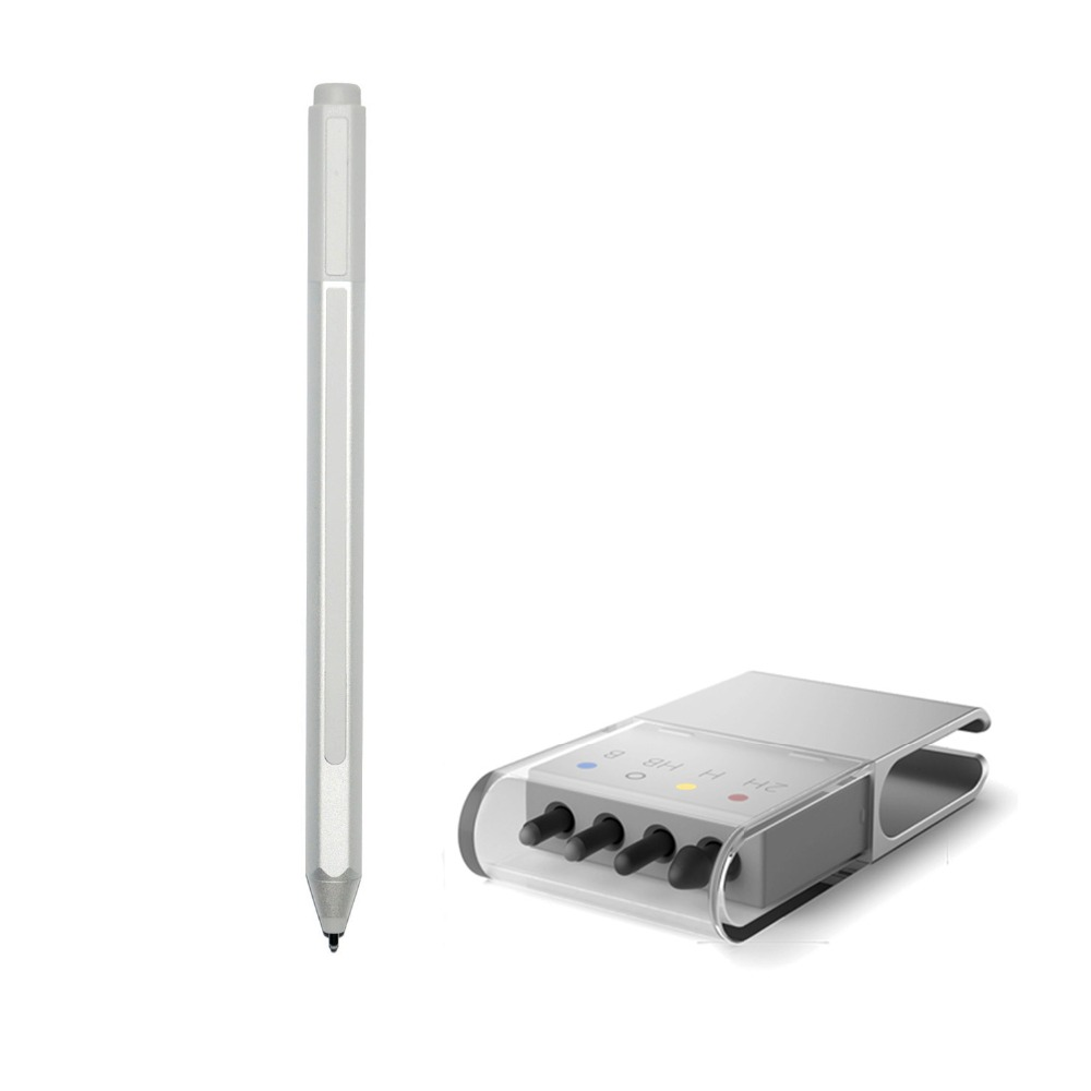 New Surface Stylus Pen + Tips refill for  Surface Pro 3 Pro 4 Silver Blutooth Capacitive Screen