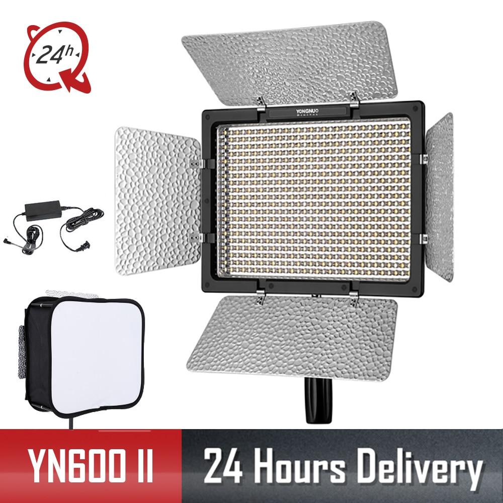 Yongnuo YN600 II YN600L II 3200 K   5500 K LED Video Light + อะแดปเตอร์ AC + Softbox-ใน ไฟถ่ายภาพ จาก อุปกรณ์อิเล็กทรอนิกส์ บน AliExpress - 11.11_สิบเอ็ด สิบเอ็ดวันคนโสด 1