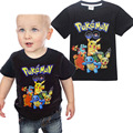 2017New Pokemon Boys T-Shirt Summer T-Shirts For Boys Cartoon Cotton Casual Pikachu Kids T-Shirt Boy Clothes Children Clothing