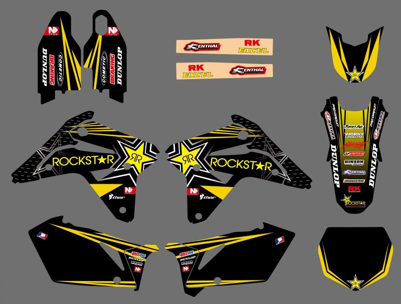 Graphiques moto Stickers Autocollants Kits Pour Suzuki RMZ 450 RM-Z 450 RMZ450 2007