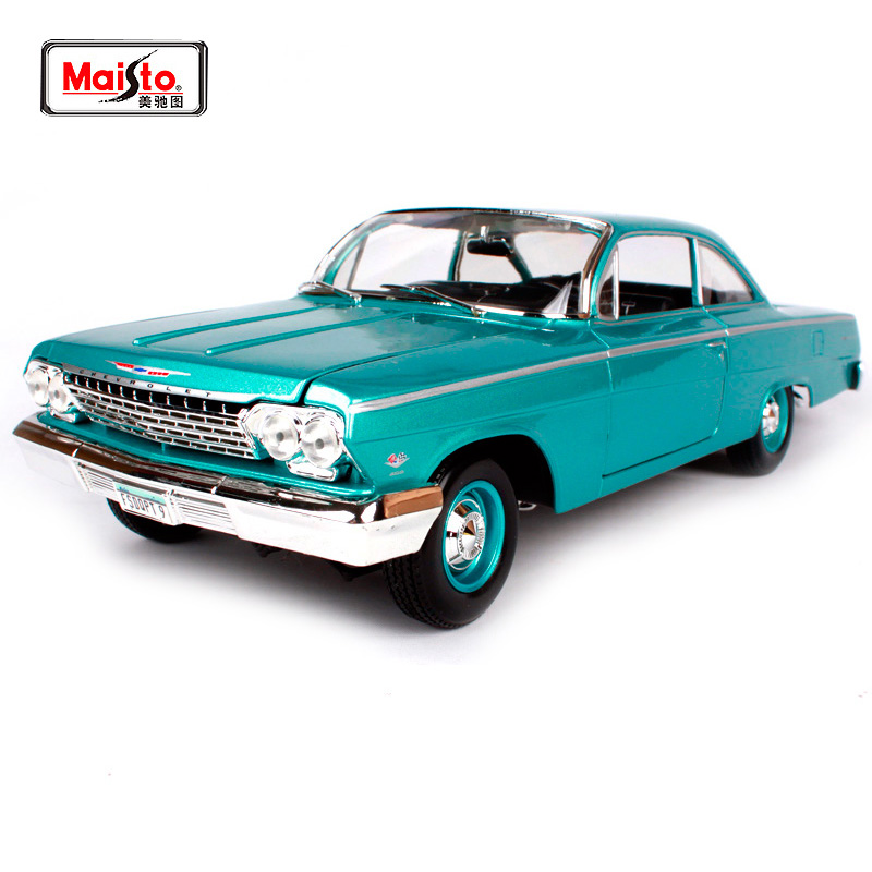 Maisto 1:18 1962 Chvrolet Bel Air Muscle Old Car model Diecast Model Car Toy New In Box Free Shipping 31641 image