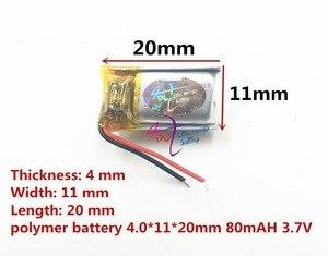 Image 3 - ליטר אנרגיה סוללה Bluetooth אוזניות 401120 401020 401220 80 mAh מיני חכם צמיד נטענת 3.7 V פולימר ליתיום סוללה