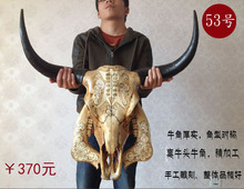 head Arts Crafts Yak skull handicraft, genuine ox head ornament, cattle and sheep skull specimen, characteristic handicraft, ox