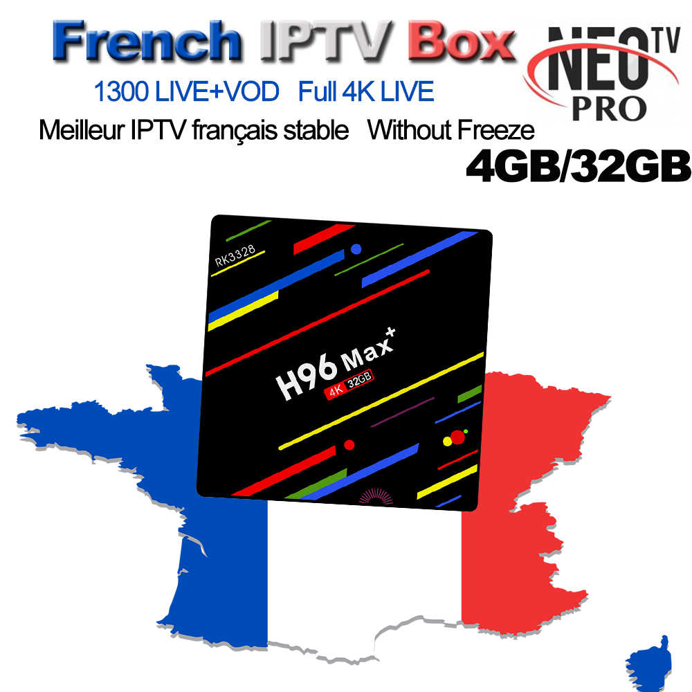 1300+ LiveTV NEOTV French Belgium IPTV Arabic Dutch Europe IPTV M3U H96 Max+ 4G 32G Android 8.1 Set Top Box PK QHDTV Volka TV