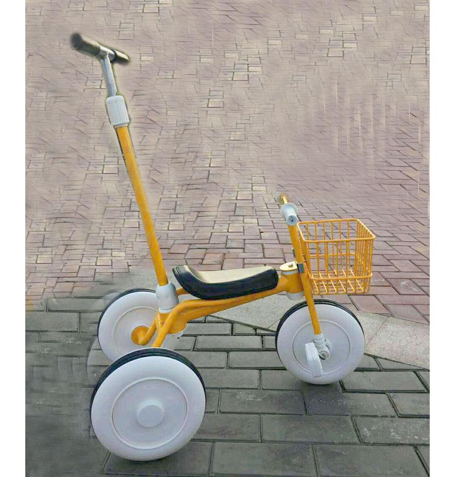 Enfants Tricycle vélo panier bébé Tricycle poussette vélo vélo enfant trois roues poussette voiture avec panier 3 ~ 14 Y