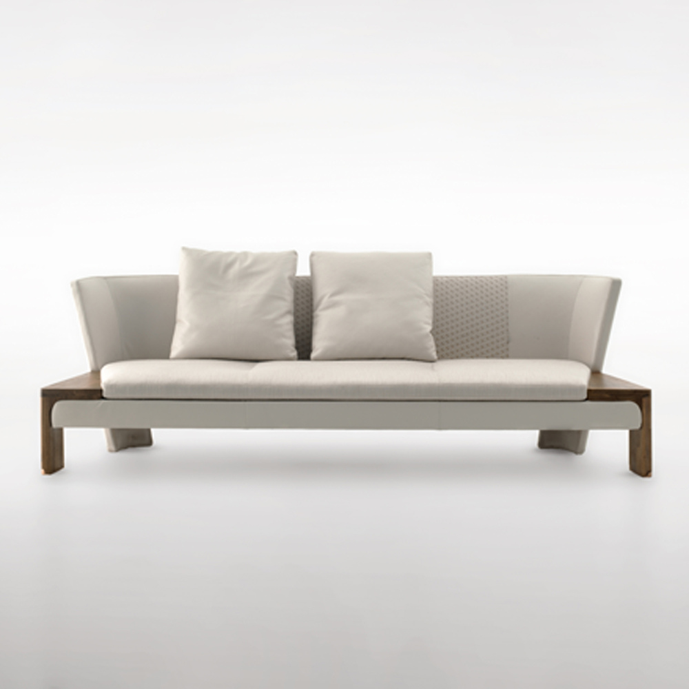 Simple and modern wood leather sofa leather sofa for Leather sofa and loveseat combo