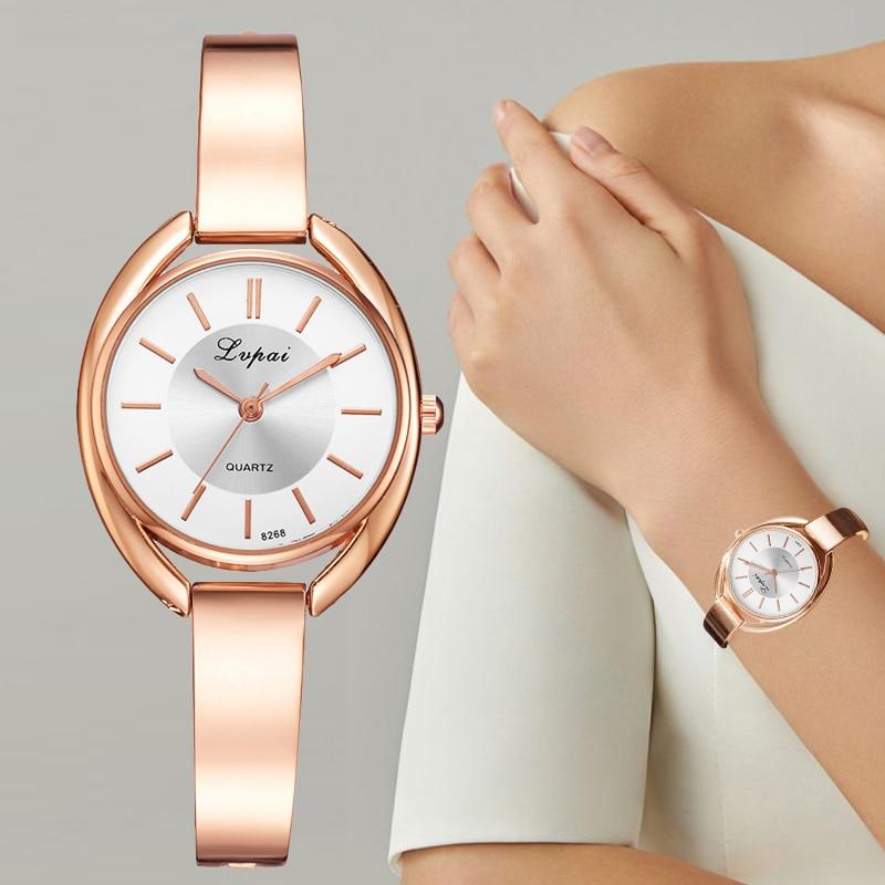 Lvpai Brand Luxury Watches Women Bracelet Fashion Crystal Dress Wristwatch Ladies Business Quartz Sport Watch LP025 Наручные часы