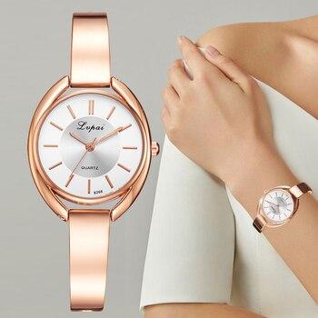 2550e94d9 Lvpai de la marca de lujo de las mujeres relojes de pulsera de moda vestido  de mujer reloj de pulsera de cuarzo de señoras deporte reloj de oro rosa ...