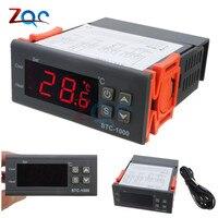 Stc dc 12ボルト24ボルトac 110ボルト220ボルト10a 2リレー出力ledデジタル温度コントローラーサーモスタットインキュベーターでヒータークーラ