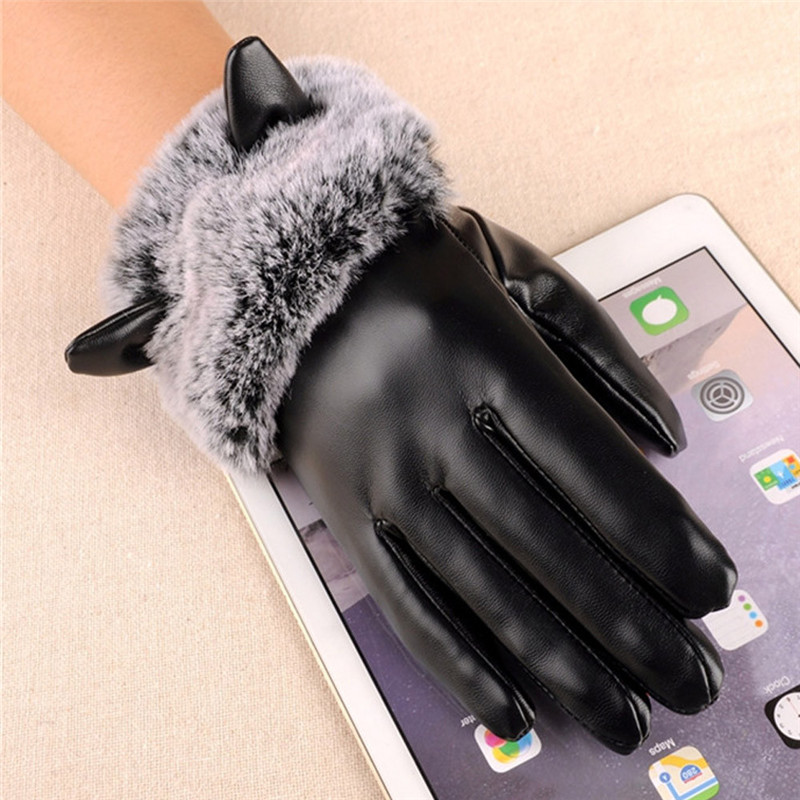 2017 new# Women Female Lady Gloves Fashion Winter Warm Soft Touchscreen Texting Driving Gloves Mitten For Women #309