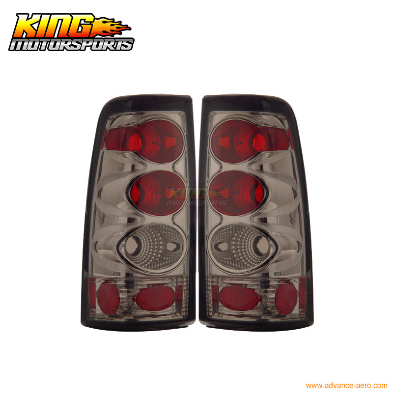 for 2005 2007 06 chrysler 300 300c led tail lights black lamps usa domestic free shipping For 1999-2002 Chevy Silverado Sierra Tail Lights Smoke Lamps USA Domestic Free Shipping