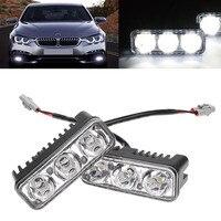 2Pcs Set 9W High Power Eagle Eye LED Light Car Waterproof 6000K White Work Lamp Drl