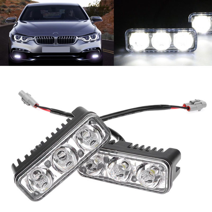 2Pcs 9W Eagle Eye LED Light Car Waterproof Work Lamp Drl Led Daytime Running Light for Kia rio Skoda new ultra thin 6w eagle eye lamp led for daytime running light drl lamp fog waterproof exterior automotive eagle eyes for car