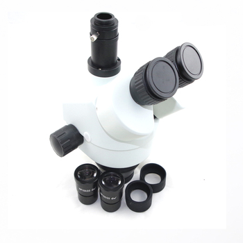 3.5x 7x 45x 90x simull focal eletrônico telefone reparação industrial trinocular estéreo microscópio cabeça com 0.5x 2.0x lente objetiva