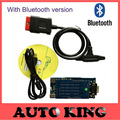 2pcs/lot+DHL Free ship! With Bluetooth FUNCTION  new vci diagnostic tool obd2 scan tools  for car and truck TCS CDP Pro Plus