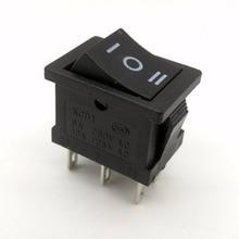 10PCS 3 Position 3 Pins Mini Oval Rocker Switch Black ON-OFF-ON AC 6A 250V 10A 125V 2pcs ac 250v 2a 125v 6a on off on 3 position 4p2t 4pdt 12 pins toggle switch