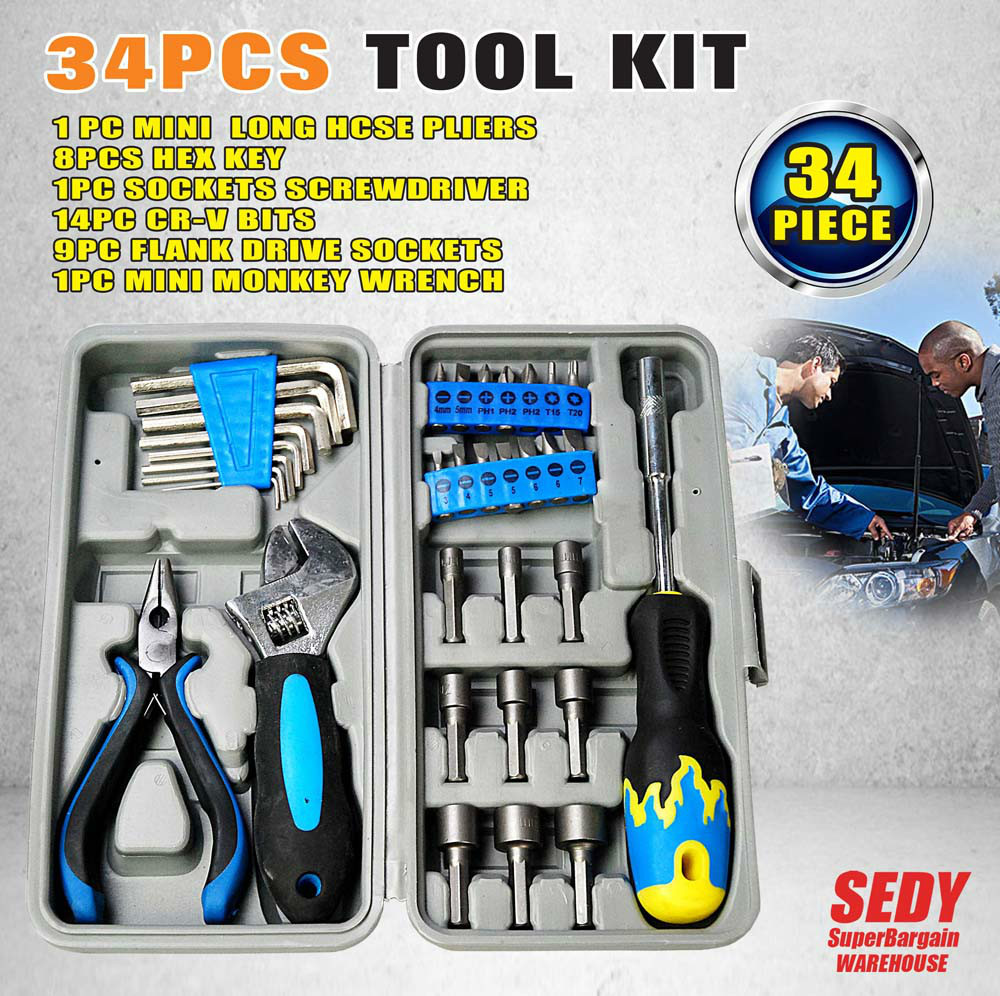 HORUSDY Household  Set Tool Screwdrivers Kit Multifunctional  34 in 1 High Quality horusdy household set tool screwdrivers kit multifunctional 34 in 1 high quality