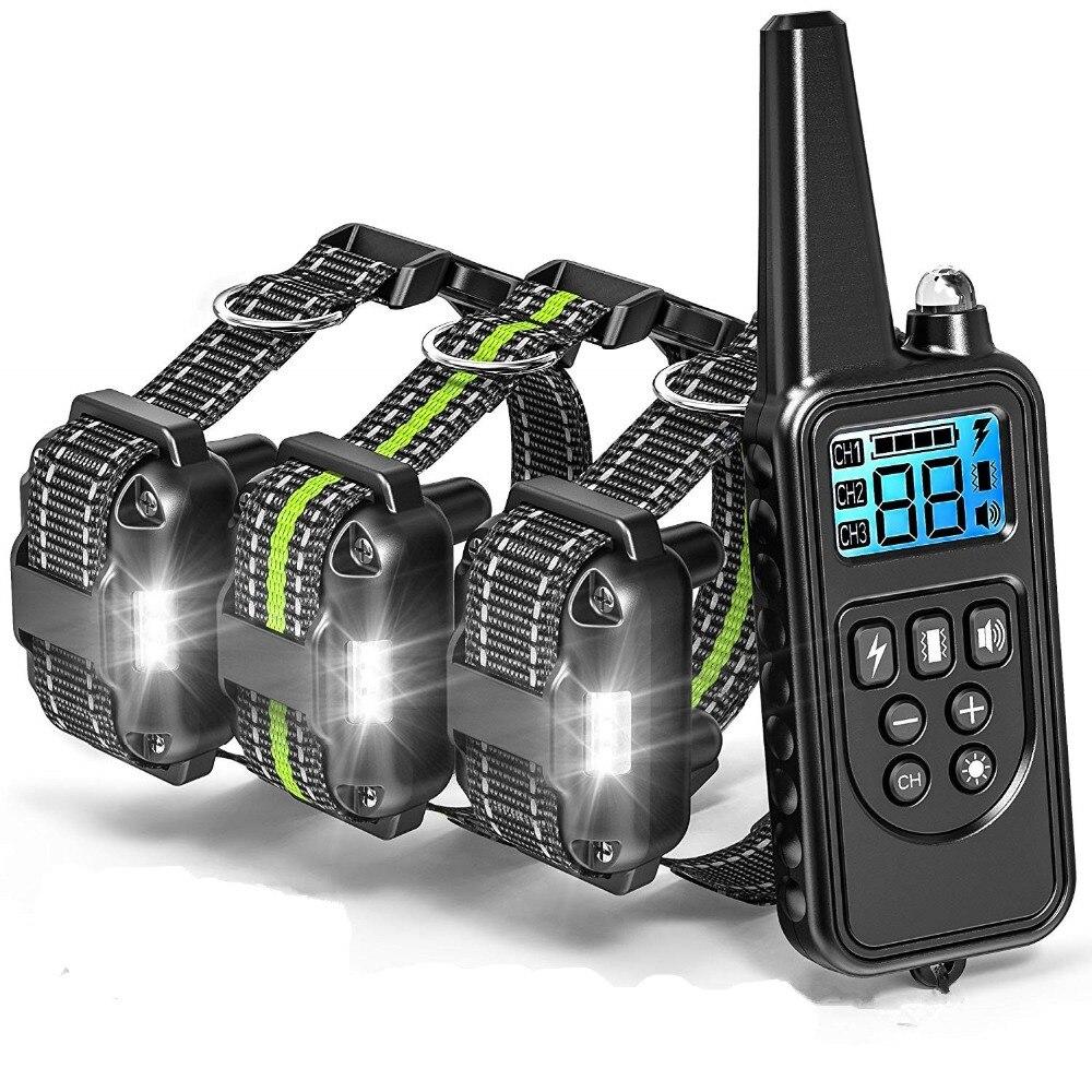Pet-Dog Collar Bark-Control-Collars Training Remote Waterproof With Nylon-Belt