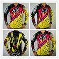 FOX cross-country Camisetas T-SHIRT de servicio de bicicletas de cross-country de montaña DH de secado rápido de la transpiración de la Camiseta