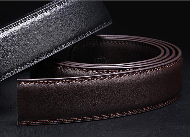 No Buckle Designer Mens Belts Body 3.5cm Wide Split Leather High Quality Men Automatic Belt Men Accessories Snakeskin 125cm 120