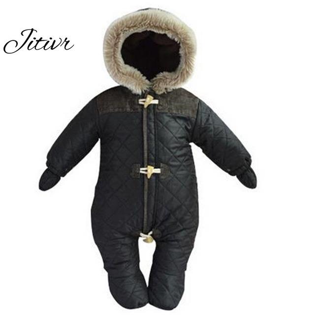 Nuevo 2016 Unisex Overoles Ropa de Bebé Traje Para La Nieve Abajo de la Capa Del Mameluco Recién Nacido Traje Para La Nieve Nieve Abrigos Outwear Invierno Warn Ropa de Bebé