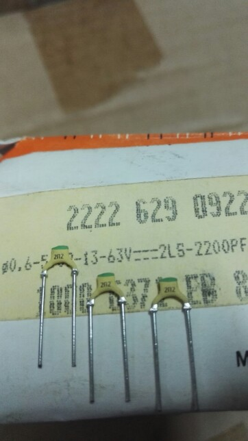2019 hot sale Holland BC 20PCS/50PCS 63V 2200PF 2200P 222 2N2 Silver Film High Frequency Ceramic Capacitors free shipping