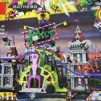 Бэтмен Джокер усадьба набор 07090 горячая Распродажа 3857 шт. супер герой серии фильм 70922 строительные блоки кирпичи рождественские детские под