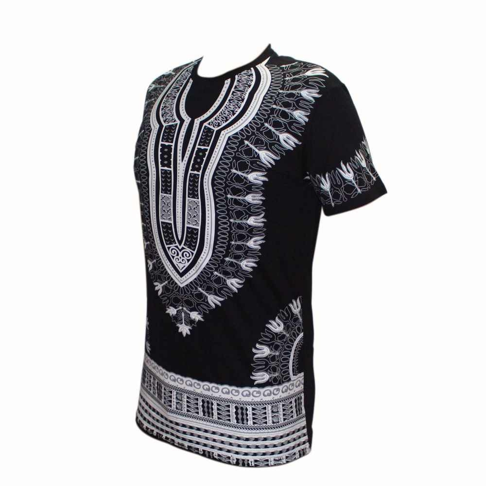 Mens Dashiki Shirt Long Sleeve Bohemia Tops African Print Ethnic Kafatan T-Shirt