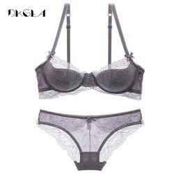 Fashion young girl bra set plus size d e cup thin cotton underwear set women sexy.jpg 250x250