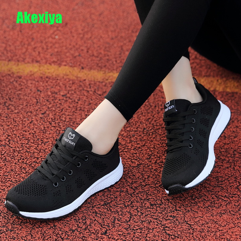 Akexiya Sneakers Women Mesh Breathable Lace-Up Ladies Casual Shoes Woman Flats Shoes Basket Female Zapatos Hombre Alpargatas цена
