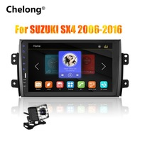 2din 9 inch Car Radio Mirrorlink Android Bluetooth Car Multimedia MP5 Player For SUZUKI SX4 2007 2008 2009 2010 2011 2013