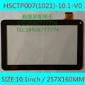 "Nueva HSCTP007 (1021)-10.1-V0 negro 10.1 ""Pulgadas de pantalla táctil tablet PC panel digitalizador sensor de cristal de reemplazo HSCTP007"