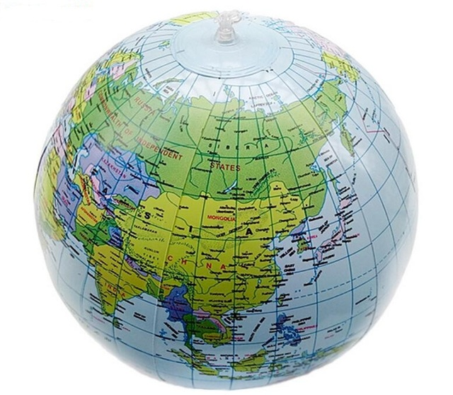 Hot sales 40CM Early Educational Inflatable Earth World Geography     Hot sales 40CM Early Educational Inflatable Earth World Geography Globe Map  Balloon For Baby Gift