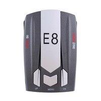Hot Mini E8 Russisch & Englisch version Auto Radarwarner scannen Stimme Anti-Polizei warnung fahrzeug geschwindigkeitsdetektor X KU Ka #