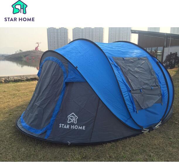 Звезда домашнего большой бросить палатки! открытый 3-4persons Автоматическая скорость открыть бросали pop up водонепроницаемый пляжные палатка 2 второй открытой