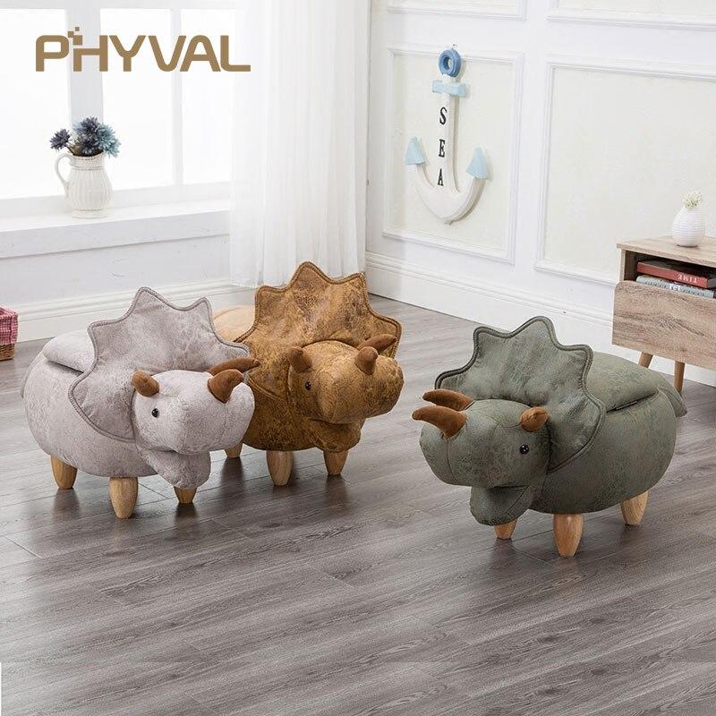 2018 précipité pas de nouveau Pouf Poire Taburetes chaise bois tabourets tabouret chaussures dinosaure Designer meubles canapé stockage contenant moderne