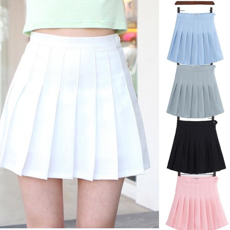 Короткое платье в клетку для девочек; Плиссированная теннисная юбка с высокой талией; Униформа с внутренними шортами; Трусы для бадминтона