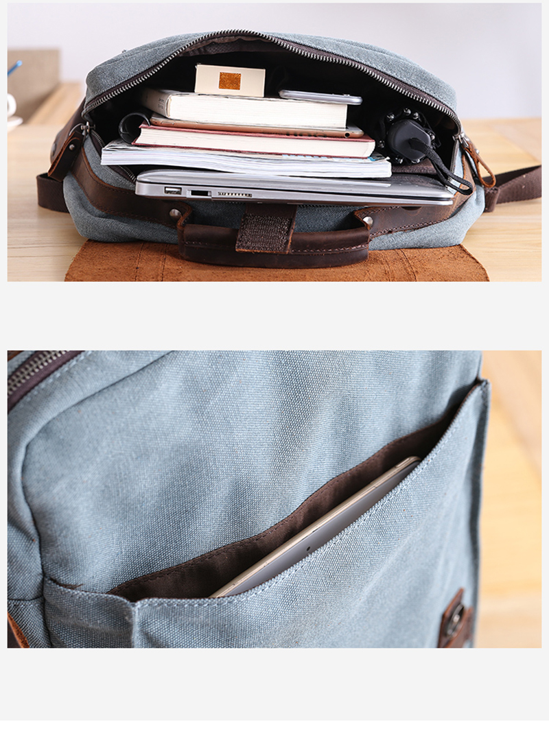 full inside of the Manitoba Small Canvas Backpack