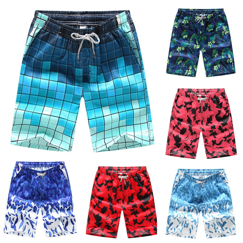 printing   board     shorts   Swimming Surfing Bottoms Anti-UV Quick Dry   Shorts   Summer Draw String Elastic Waist   Shorts   holidays