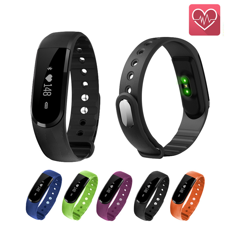 Smart Band Bracelet Heart Rate Monitor Step Pedometer Sleep Tracker Smart Wristband Health Tracker for android IOS PK mi band 2
