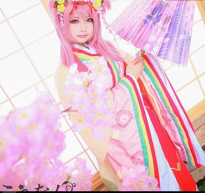 Puella Magi Madoka Magica Kaname Madoka and Akemi Homura Cosplay Costume kimono