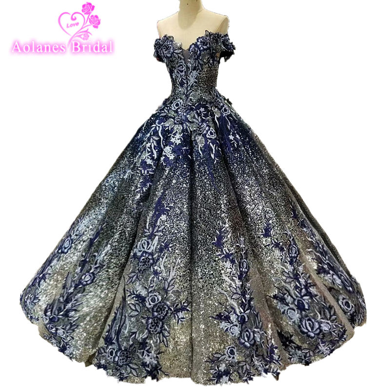 Detail Feedback Questions about 2018 Ball Gown Elegant Prom Dresses Long  With Beaded Sweetheart Tulle Navy Blue Dress For Graduation Formal Evening  Prom ... a5f309ea9715