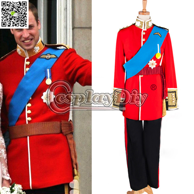 Prince William Costume Uniform Suit The Royal Prince Costume Halloween Cosplay Costume