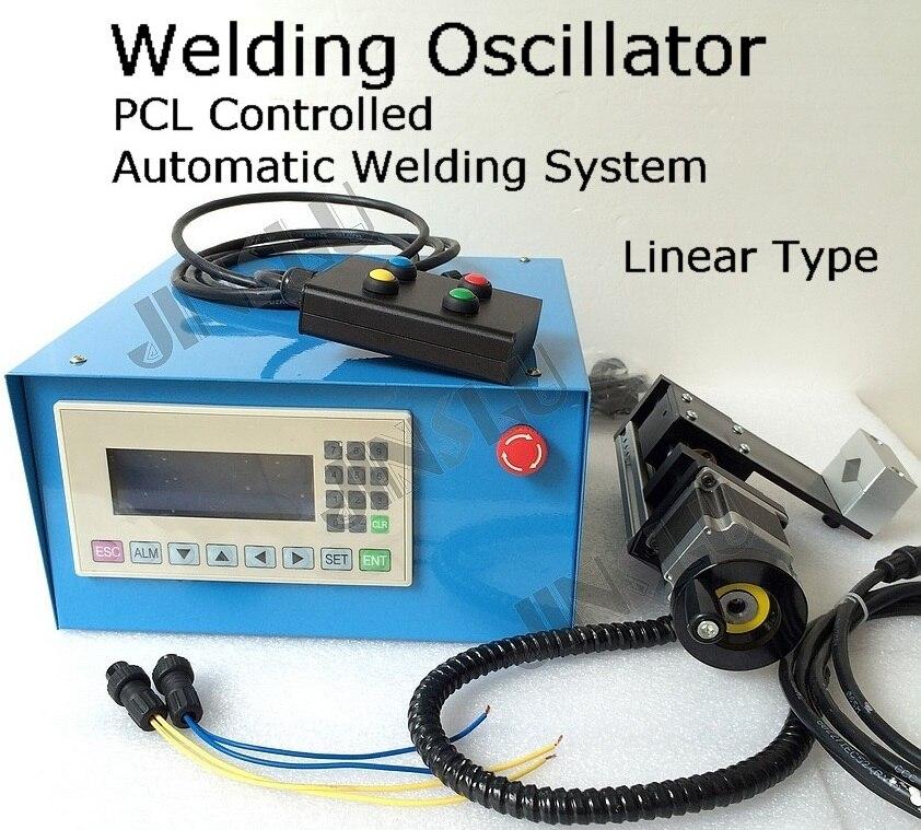 Vidéo à l'intérieur Automatique De Soudage Oscillateur Weaver PLC Contrôlée Mécanisme Motorisé Linéaire Type De Soudage Positionneur Platine