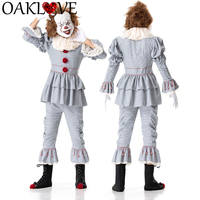 Halloween Costume Cosplay Horror Clowns Pennywise Clothes Ghost Festival Clothes Masquerade Carnival Role Playing Costumes Men