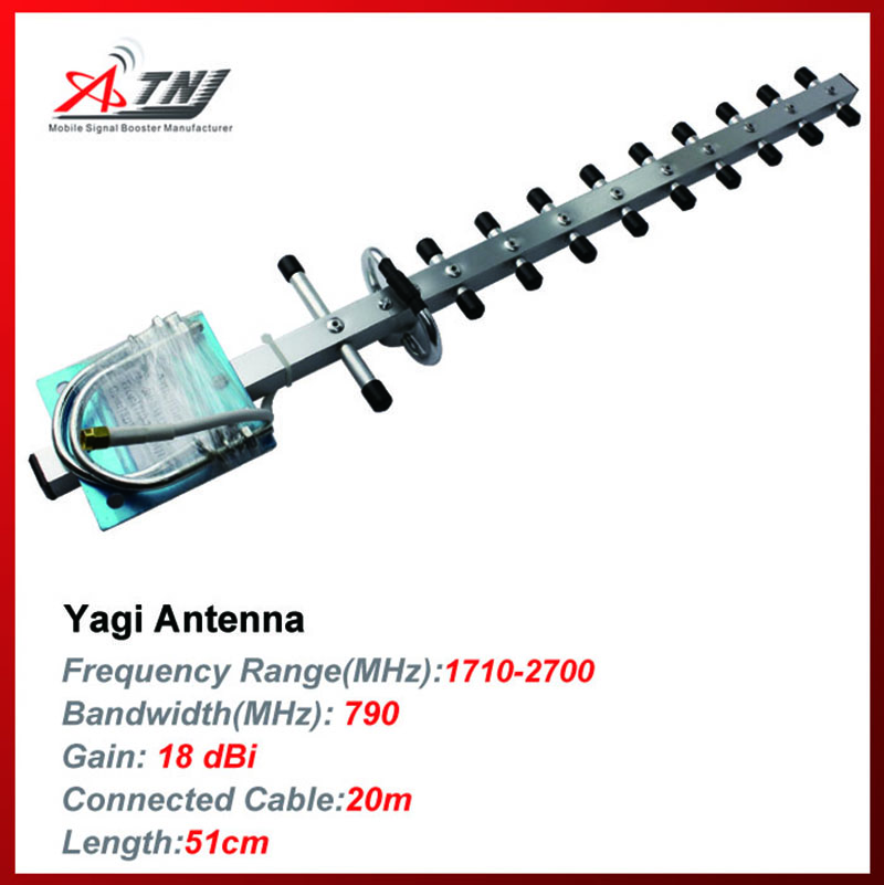 NEW arrival  18dBi outdoor yagi Antenna For DCS 3G 1700MHZ 2200MHZ Mobile Phone Signal Booster