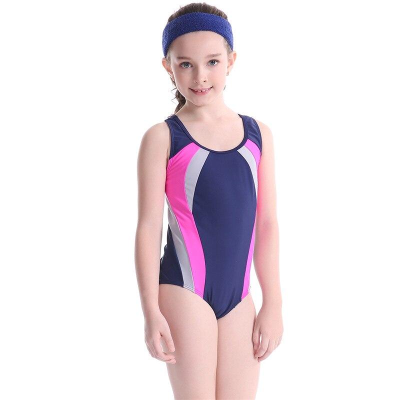 ילדי חתיכה אחת בגד ים בנות ספורט בגדי ים ילד חוף טלאי בגד ים Bodysuits תינוק בגד ים