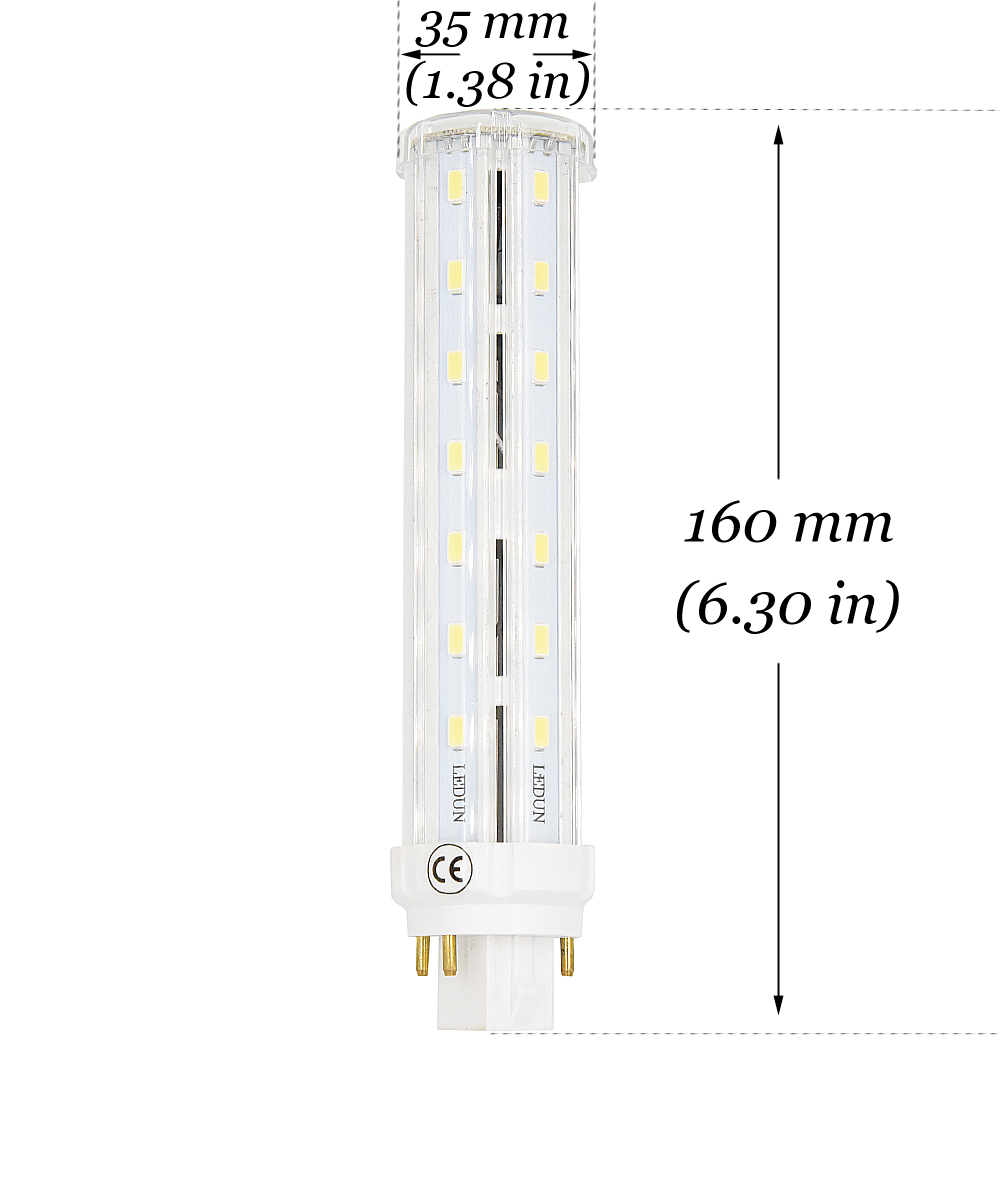 12w Led Gx24q 4 Pin Base Corn Light Bulb 26w Cfl Compact Fluorescent Wiring Bulbs You Can Then Connect The Two Red Wires To Black Wire 3 Next Blue White For Multiple Fixtures