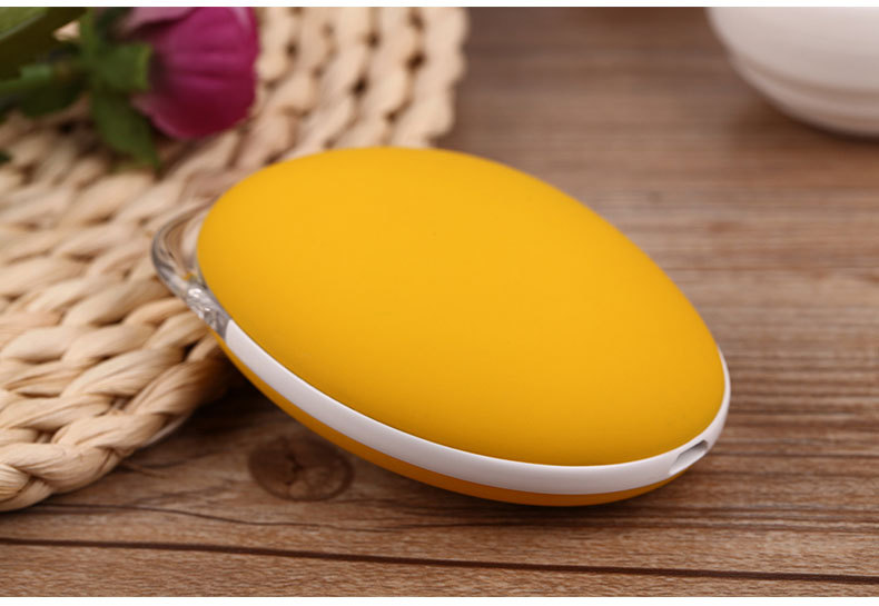 ФОТО Mini Smart  Mango Shape 3500mah Phone Battery Charger USB Power Bank With Electronic Heater Hand Warmer