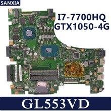 Kefu ROG GL553VD материнская плата для ноутбука ASUS FX53VD ZX53V GL553VW GL553V GL553 Тесты Оригинал материнская плата I7-7700HQ GTX1050-4G